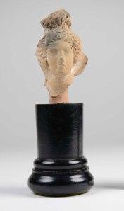 Greek ceramic head